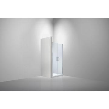 Van Rijn saloondeur 200 cm x 117-121 cm, 6 mm helder glas incl. glasbehandeling, aluminium profiel
