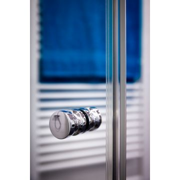Deur met zijwand incl. stabilisatiestang 8mm helder glas HxB max 2000x1000mm  serie GL10