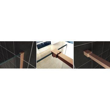 Wiesbaden Slim profielset met stabilisatiestang 120 cm, koper