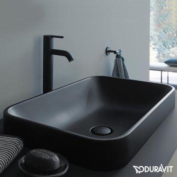 Duravit Happy D.2 Plus opbouwwastafel 60 x 40 cm, rechthoekig, zonder kraangat, mat antraciet
