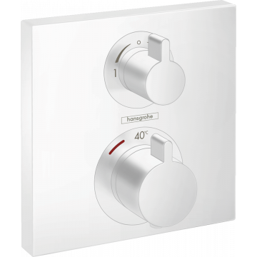 Hansgrohe Ecostat Square afdekset thermostaat 2 functies, mat wit