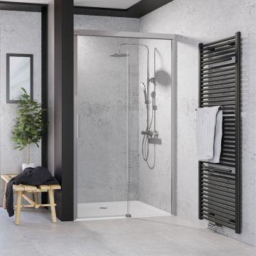 HSK Atelier Plan schuifdeur, voor in nis, 160x206cm, montagezijde links, chroom