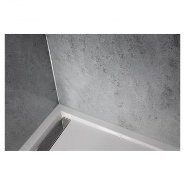 HSK RenoDeco designpaneel 100x255cm 3mm dik natuursteen, asgrijs