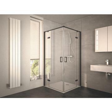 HSK Atelier Plan hoekinstap, draaideur 4-delig, 100x100x200cm, zwart-mat