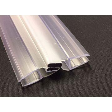 Sub universele magneetstrip 2000 mm met waterkering, t.b.v. pendeldeur 6 mm, chroom