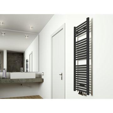 Wiesbaden Elara radiator 118,5 x 45 cm, mat zwart