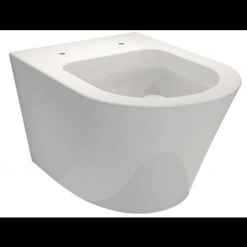 Sub 104 hangend toilet met spoelrand, wit