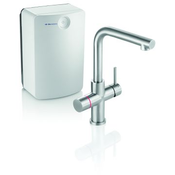 Itho Daalderop Close-In More 4-in-1 Square kokendwaterset, RVS