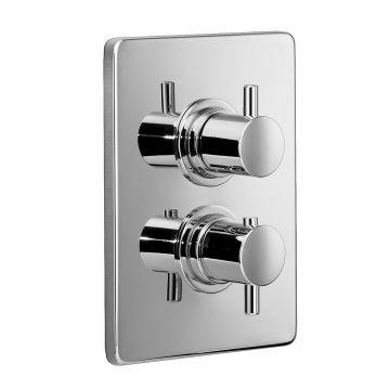 HSK Shower & Co! veiligheidsthermostaat afbouwdeel rechthoekig, chroom