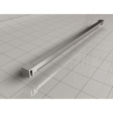 Sub Slim stabilisatiestang inclusief muur- en glaskoppeling 120 cm, chroom