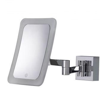 HSK SoftCube make-up spiegel wandmodel, voor netaansluiting, chroom