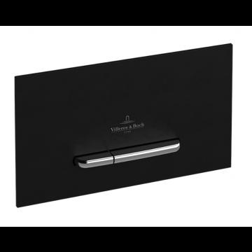 Villeroy & Boch ViConnect E300 bedieningspaneel tweeknops 25,3 x 14,5 cm, zwart/matchroom