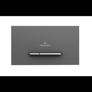 Villeroy & Boch ViConnect E300 bedieningspaneel tweeknops 25,3 x 14,5 cm, antraciet