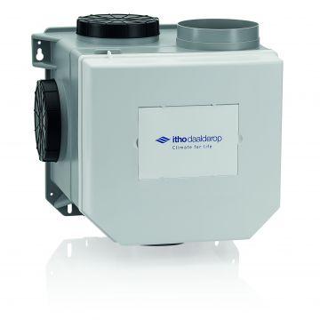 Itho Daalderop CVE-S ECO HP ventilatie-unit, ventilatievermogen 468 m3/uur high performance met vochtsensor en Perilex-stekker
