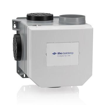 Itho Daalderop CVE-S Optima Inside-ventilatiepakket, ventilatievermogen 468 m3/uur high performance met geintegreerde CO2-sensor, vochtsensor en euro- en Perilex-stekker