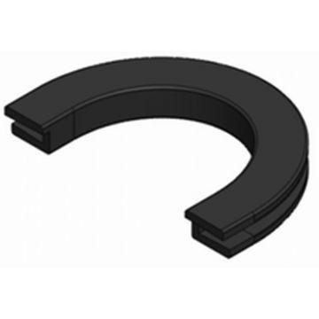 Guo U-Line rubber los voor vloerwisser, zwart