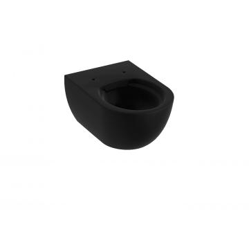 Sub 010 hangend toilet diepspoel en rimfree 35 x 35,5 x 54 cm, mat zwart