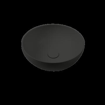 Sub 065 opzetwastafel rond 40 x 16,5 cm, mat zwart