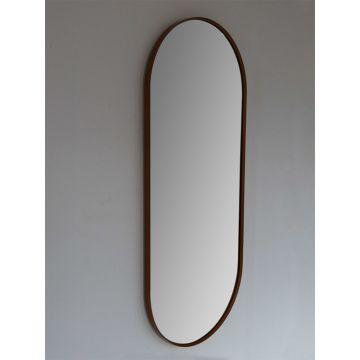 Sub 148 spiegel 90x38 cm ovaal met lijst, matgoud