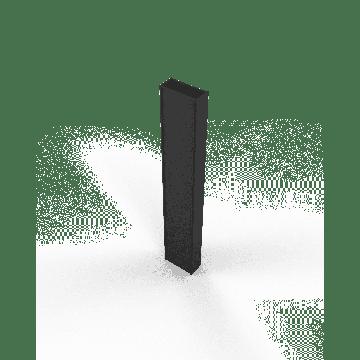Sub 64 verbredingsprofiel voor schuifdeur mat zwart, mat zwart