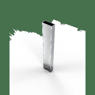 Sub 64 verbredingsprofiel voor schuifdeur chroom, chroom