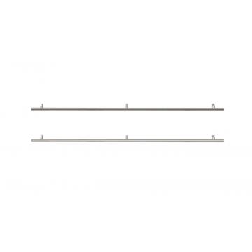 Sub 16 grepen set rond 2 stuks voor onderkast 100 cm, rvs