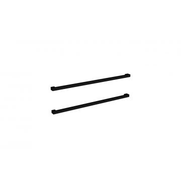 Sub 16 grepen set vierkant 2 stuks voor onderkast 70 cm, mat zwart