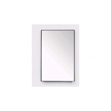 Sub 16 spiegel 100 x 80 cm, mat zwart