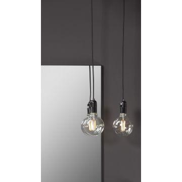 Sub 16 hanglamp e27 met schakelaar zonder lamp zwart, zwart
