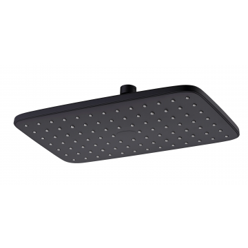 Sub Be Fresh hoofddouche rechthoekig 29 x 18 cm, mat zwart