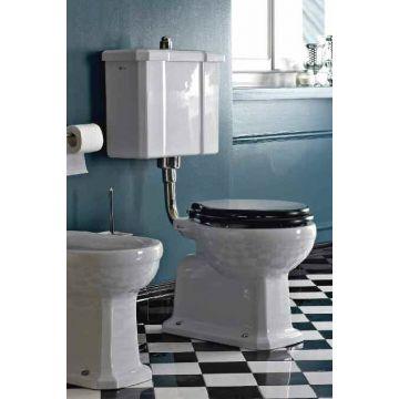 Van Heck Traditional toiletzitting, zwart