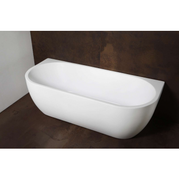 Luca Primo back to wall bad, half rond, 180 x 80 x 58 cm, mat wit