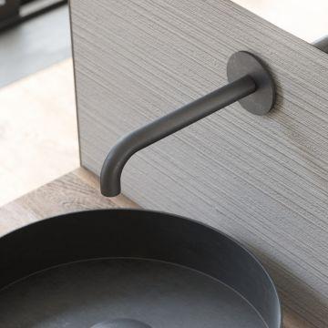 Hotbath Cobber uitloop 15 cm, mat zwart
