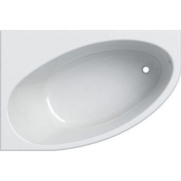 Geberit Renova hoekbad links 150x100 cm, afvoer rechts, wit