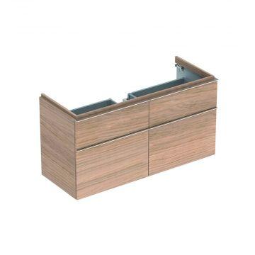 Geberit iCon wastafelonderkast 4 laden 119x62 cm voor enkele wastafel, eiken naturel