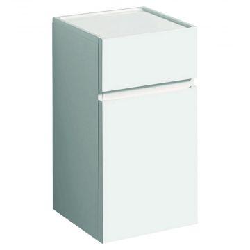 Geberit Renova plan halfhoge kast 1 deur met 1 lade 70 cm, glans wit