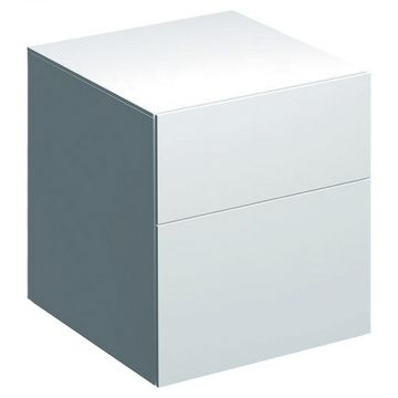Geberit Xeno2 lage kast 45 cm 2 laden, glans wit