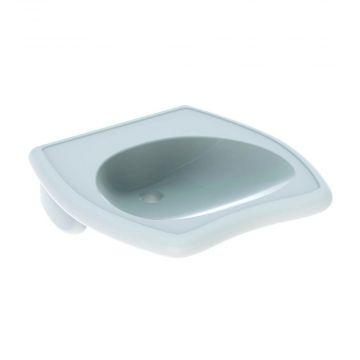 Geberit 300 comfort wastafel 55 cm 1 kraangat zonder overloop met Keratect, wit