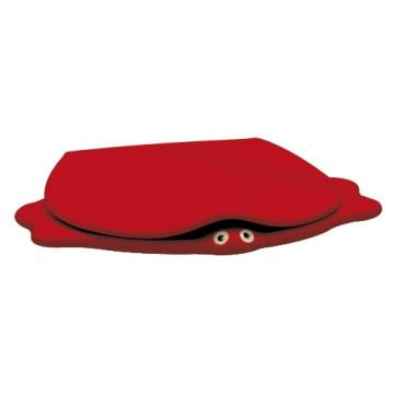 Geberit 300 Kids closetzitting schildpad softclose, rood