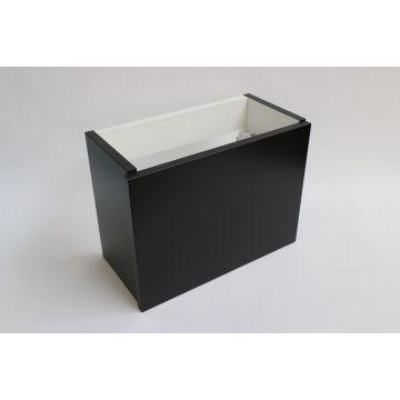INK Versus fonteinonderkast 360x270x180 mm, greeploos, gelakt, universeel links/rechtsdraaiend, mat zwart