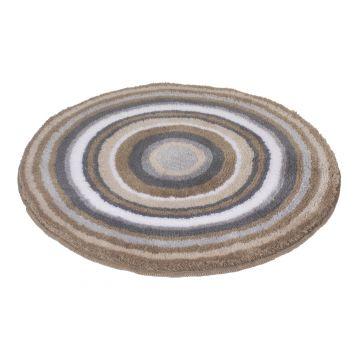 Kleine Wolke badmat Mandala rond 60x2cm, taupe