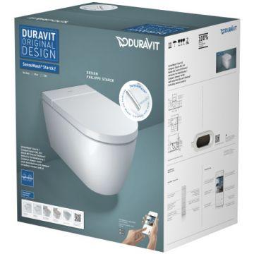 Duravit SensoWash Starck F Lite Compact complete douche wc, wit