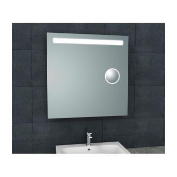 Wiesbaden Tigris spiegel 80x80 cm met LED-verlichting en scheerspiegel
