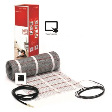 Danfoss ECmat™ 150T elektrische vloerverwarming set met DEVlreg™ Touch 7m², 1050w
