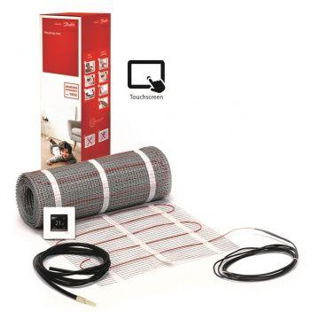 Danfoss ECmat™ 150T elektrische vloerverwarming set met DEVlreg™ Touch 1,5m², 225w