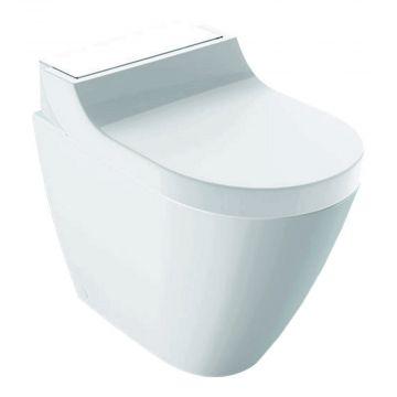 Geberit AquaClean Tuma Comfort douche wc met rvs-decorplaat, wit