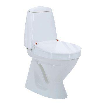 Invacare Aquatec 90000 toiletverhoger + 6cm m. deksel zonder armleuning wit