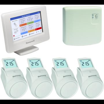 Honeywell Evohome radiatorpakket 4 zones aan/uit New