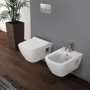 Geberit Renova Plan hangend toilet rimfree, wit