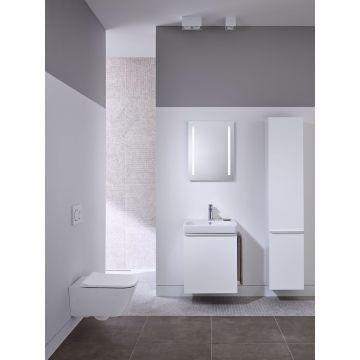 Geberit Smyle Square zijkast 36 cm met 1 deur links, glans wit